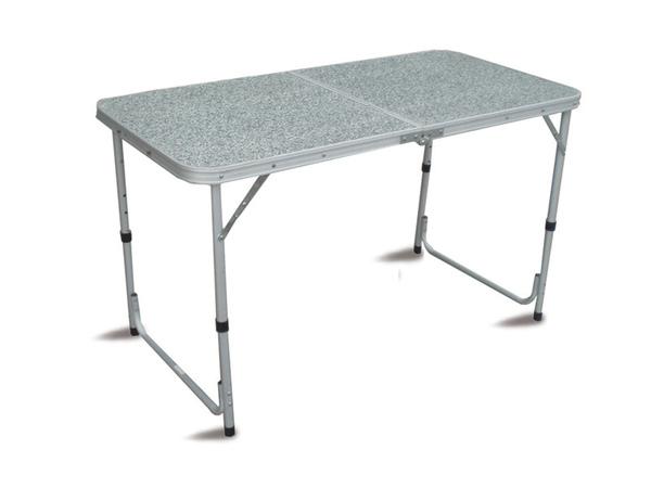 Tavolo campeggio alluminio 120x60 pieghevole valigetta piano formica tapa 41 - Tavolo pieghevole con maniglia ...