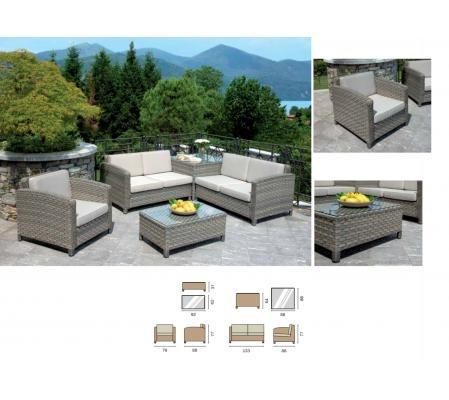 Set divanetti da giardino abbacchiatori pneumatici for Divanetti esterno