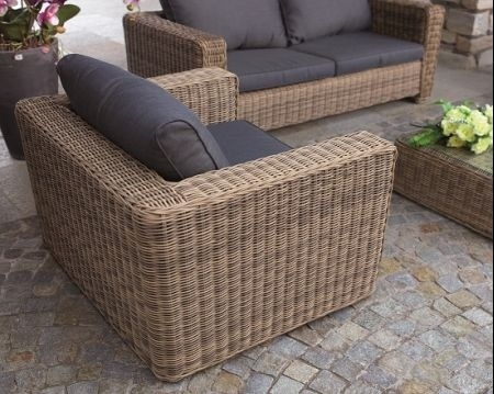 Set divanetto professionale trinidad divano 2 poltrone - Arredo giardino rattan sintetico ...