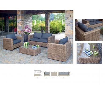 Set divanetto professionale Trinidad divano + 2 poltrone ...