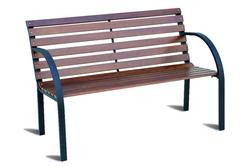 Panca panchina Piccadilly 2 posti legno rovere struttura metallo nero GB970