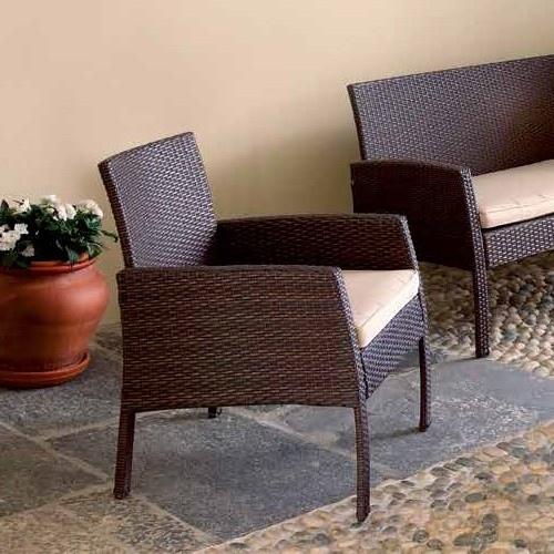 Set salotto cesena divano 2 poltrone tavolino - Set divano rattan ...