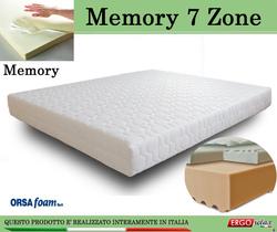 Materasso Memory Mod. 7 Zone Singolo 80x190 Zone Differenziate Anallergico Sfoderabile - Ergorelax