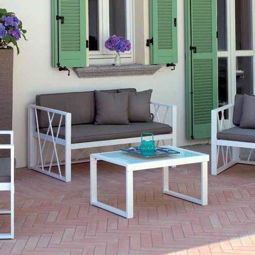 Set chioggia divano 2 poltrone tavolino vetro cuscini - Cuscini per poltrone da giardino ...