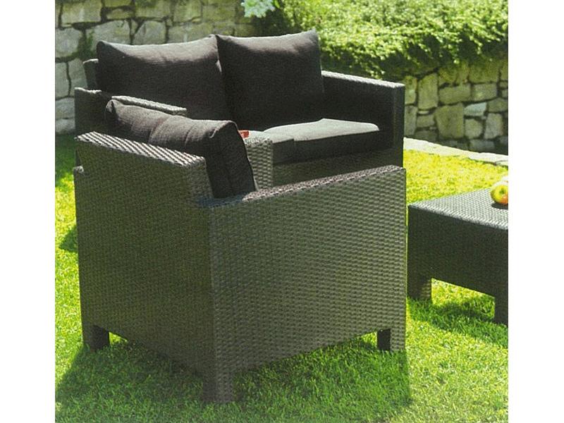 Set divanetto giardino spalato divano 2 poltrone - Set divano giardino ...