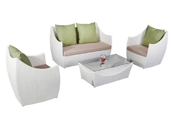 Set divanetto giardino caprera divano 2 poltrone - Set divano rattan ...