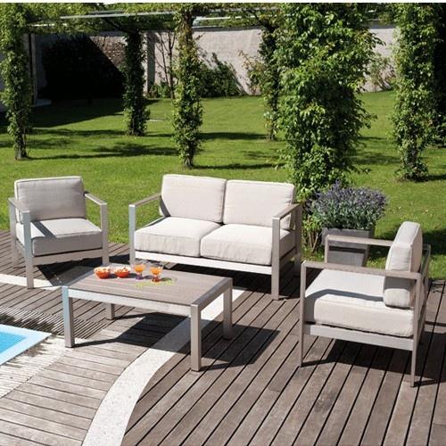 Set giardino coffee set levanto divano 2 poltrone tavolino for Arredo giardino legno