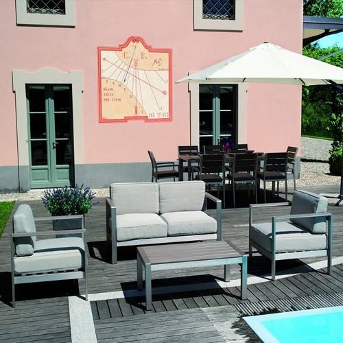 Set giardino coffee set levanto divano 2 poltrone tavolino cuscini ...