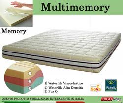 Materasso Memory Mod. Multimemory Singolo da Cm. 80 Waterlily Tre Strati - Ergorelax