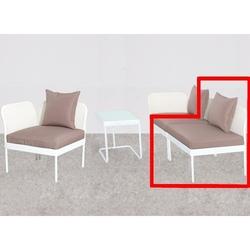 Divano Modulo Centrale per SALOTTO MODULARE Mod. PERLA in acciaio Bianco 65X73X75H
