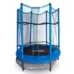 cama elástica infantil con red azul 152 cm