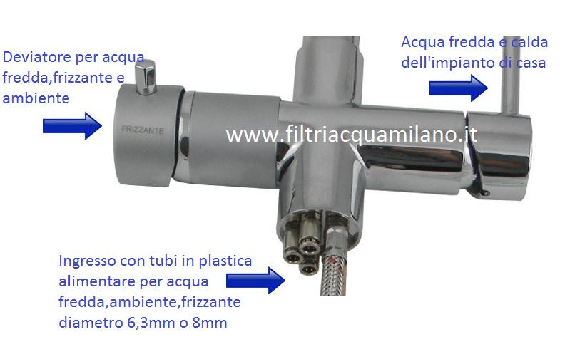 Depuratori acqua miscelatore 5vie per acqua depurata - Acqua depurata in casa ...