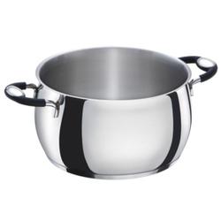 Casseruola diam 24 in acciaio inox 2 manico Bialetti BellyPot per induzione forno