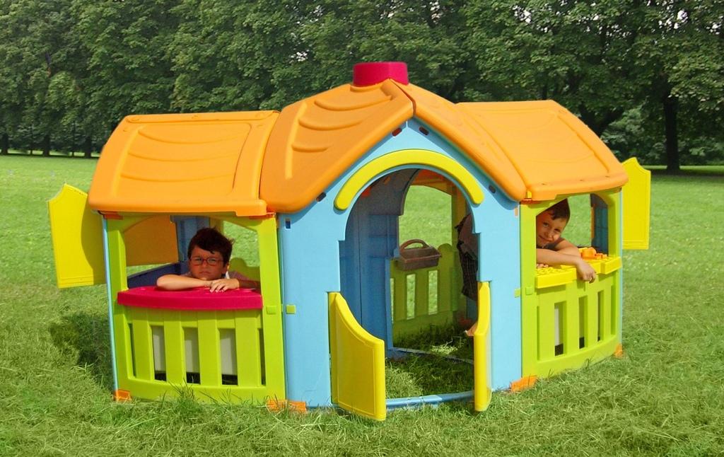 Casetta da giardino per bambini cottage cp1395 misure cm for Grande casetta per bambini