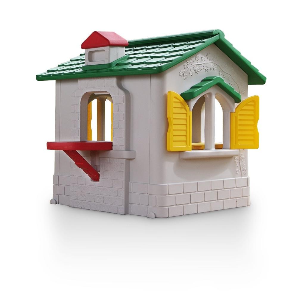 Casetta per bambini da giardino in plastica chicco by for Casetta giardino chicco