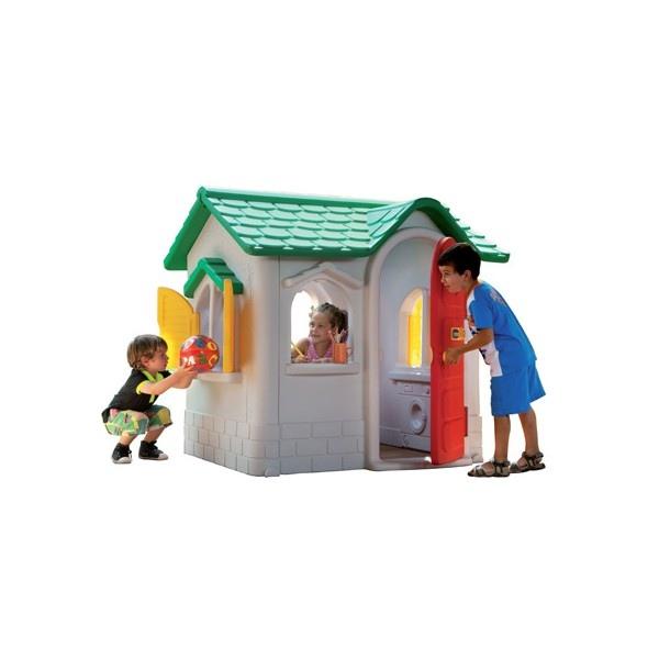 Casetta per bambini da giardino in plastica chicco by for Casetta da giardino per bambini usata