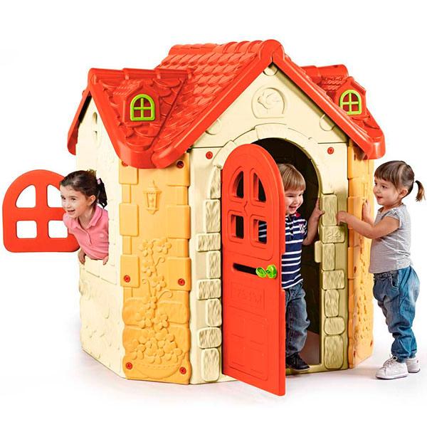 Casetta da giardino per bambini casetta il maniero 800008573 feber - Casetta da giardino per bambini usata ...