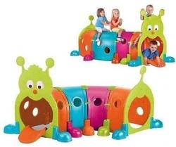 Parco giochi da giardino per bambini Famosa 800009596 - Feberguss Tunnel Modulare Bruco Casetta per bambini lunga
