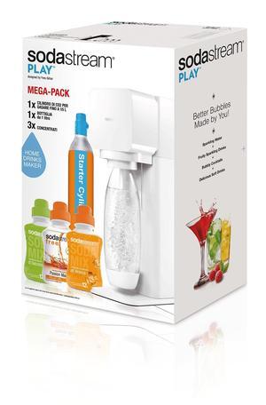Gasatore per Acqua Frizzante Sodastream 2260767 Play Megapack  con 3 Concentrati