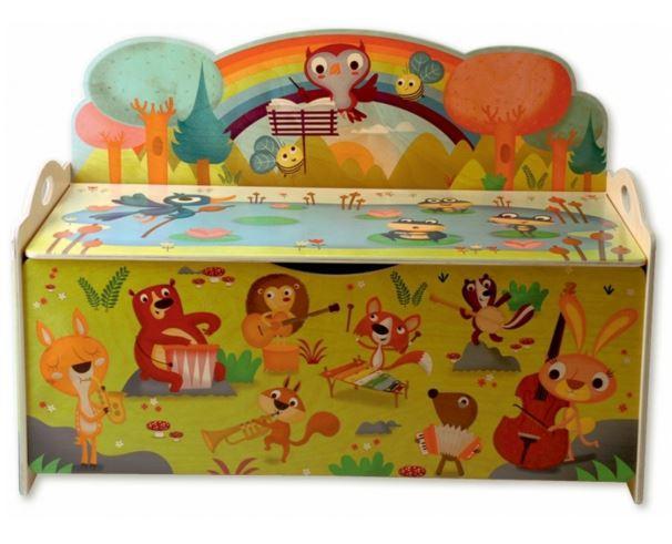 cassapanca porta giochi concerto nel bosco per bambini