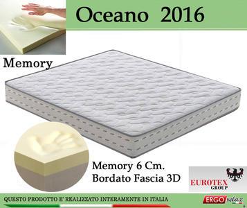 Materasso Memory Foam Mod. Oceano 2016 Singolo da Cm 80 Antiacaro Anallergico Altezza Cm 22 - Ergorelax