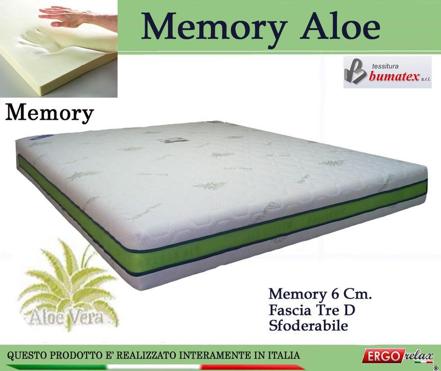Materasso Memory Mod Memory Aloe da Cm 140x200 Sfoderabile - Ergorelax