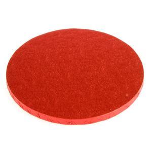 Vassoio rotondo rosso rigido cm 40