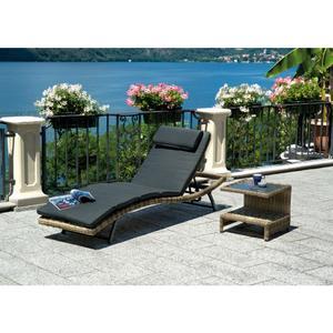 Lettino prendisole da giardino in color Grey Kubu con schienale reclinabile CLW63 TRINITAD