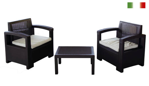 Salottino in polipropilene stampato set alabama terrance 3 - Salottino da esterno ...