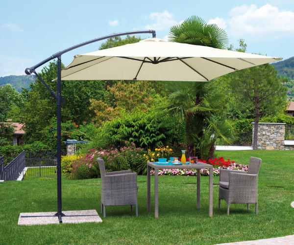 Descrizione completa ombrellone moderno quadrato a braccio laterale realizzato con grande cura - Riparazione ombrelloni da giardino ...