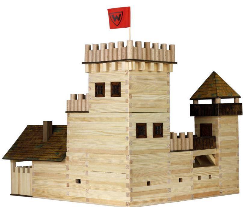 costruzioni in legno naturale per bambini kit castello