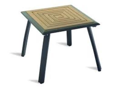 Tavolino da giardino cm 50X50 TEAK alluminio nero  CTT72