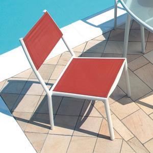 Sedie SABAUDIA impilabile textilene terracotta alluminio avorio esterno CHA80