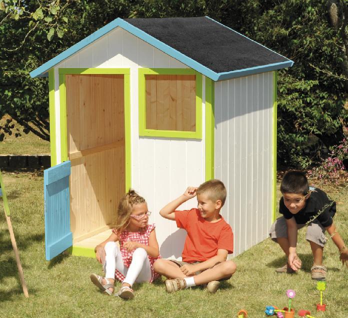 Casetta da esterno in legno ribes per bambini cod cl1387 for Casetta giardino bimbi usata