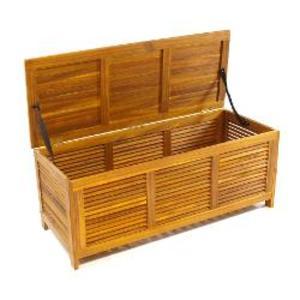 Cassapanca in legno di acacia oleata cm 115x46x45