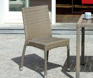 Sedia da giardino CALAIS contract wicker rattan avana impilabile ristoranti esterno CHW 51A