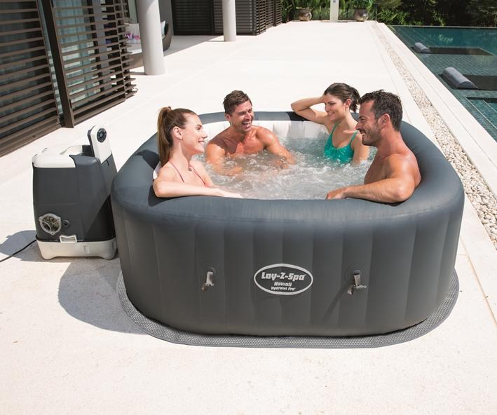 54138 lay z spa hydrojet airjet 180x180x71 bestway pro hawaii con pompa e riscaldatore piscine - Piscina spa gonfiabile ...