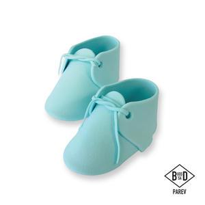 Scarpette bebè azzurre pasta di zucchero Pme