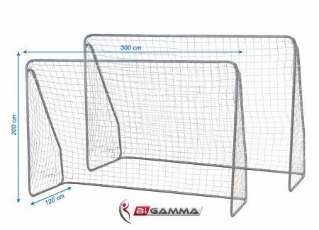 Set di 2 porte da calcio regolamentari mod super goal - Dimensioni della porta da calcio ...