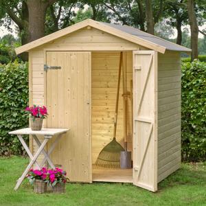 Casetta da giardino ricovero attrezzi NARCISSO CM.170X120X218 doppia porta tavole legno