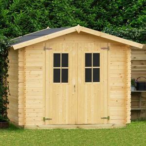 Casetta da giardino modello IRISA ricovero attezzi in legno perline ad incastro cm 258 X 238 cm