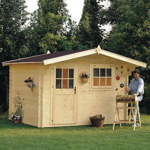 Casetta da giardino modello DALIA ricovero attezzi in legno perline ad incastro cm 288 X 288 cm