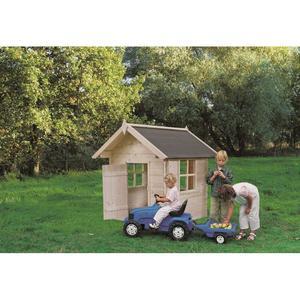 Casetta da giardino modello BIMBI in legno perline ad incastro cm 110 x 110 cm