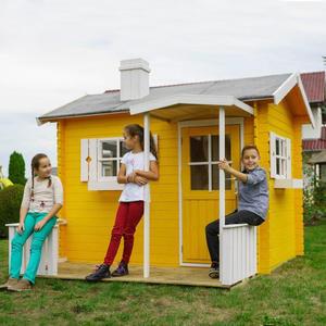 Casetta in legno per bambini prefabbricata gioco giardino KINDER 220 x 160 cm