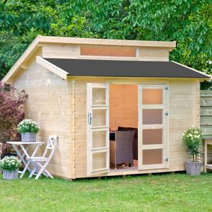 Casetta da giardino modello KONIGSBERG ricovero attrezzi in legno perline ad incastro cm 298x298