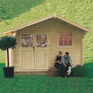 Casetta da giardino modello ROSITA ricovero attrezzi in legno perline ad incastro cm 398 X 318