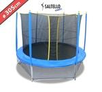 cama elástica SALTELLO® de 305 cm con red de seguridad escalera y faldón de seguridad inferior incluidos  incluida