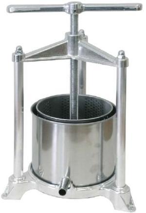 Torchietto premitutto da cucina in acciaio inox spremitutto torchio lt 5,5 misura 32X34X47 cm