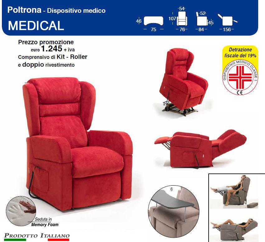 Poltrone relax due motori, poltrona ortopedica per anziani, poltrona per disa...