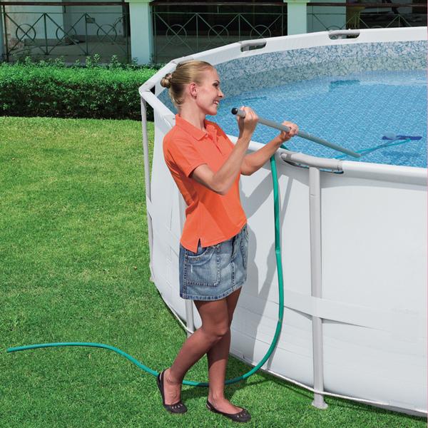 Kit manutenzione pulizia piscina bestwa 58098 for Piccole planimetrie della piscina
